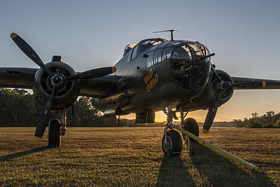 Photograph - B-25 Mitchell Sunset by Liza Eckardt
