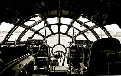 Photograph - B-29 Bomber Cockpit by Amy McDaniel