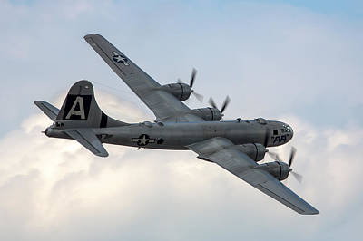 B-29 Photograph - B-29 Superfortress by Bill Lindsay