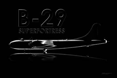 Digital Art - B-29 Superfortress by David Collins