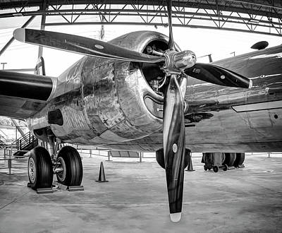 Plane Engine Photograph - B-29 Superfortress Starboard Engine by Daniel Hagerman