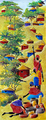 Painting - B 363 by Martin Bulinya
