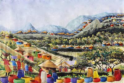 Painting - B-368 by Martin Bulinya