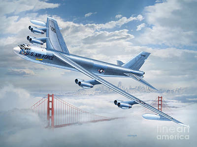 Thomas Kinkade - B-52 Stratofortress The Spirit of Solano County by Stu Shepherd