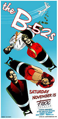 B-52 Mixed Media - B-52's Tour Poster by Jefferson Wood