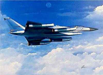 Acrylic Wall Art - Painting - B-58 Hustler by Peter Ring Sr