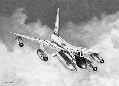 Drawing - B-58a Hustler by Douglas Castleman