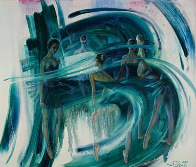 Painting - B -allet by Serguei Zlenko