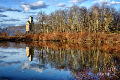 Music Royalty-Free and Rights-Managed Images - B and  O Pond with Sand House by Thomas R Fletcher