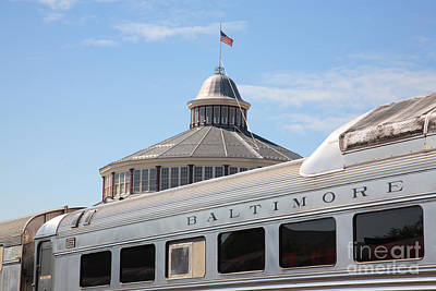 B And O Railroad Museum In Baltimore Maryland Art Print