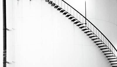 B And W Stairs Art Print