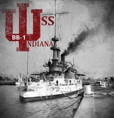 Digital Art - B B 1 Uss Indiana by JC Findley