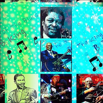 Digital Art - B B King Of The Blues  by Karen Buford
