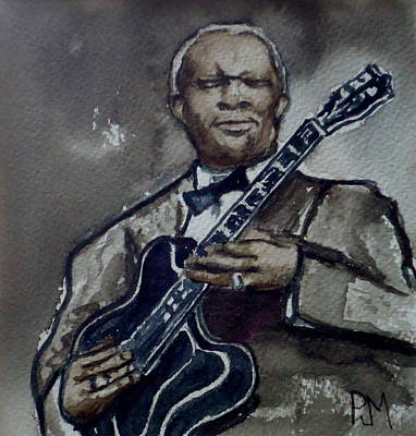 B.b.king Painting - B B King by Pete Maier