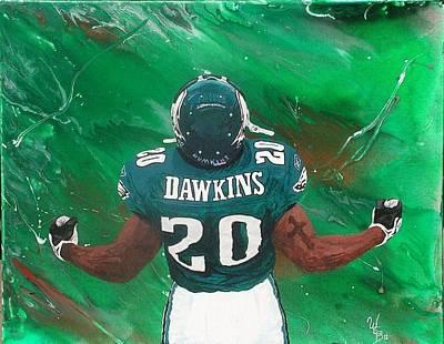 Brian Dawkins Painting - B Dawk by William Boehmer