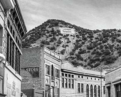 Photograph - B Is For Bisbee Bisbee Arizona Black And White by Toby McGuire