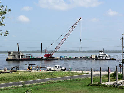 Photograph - B P Barges Two by Kathy K McClellan