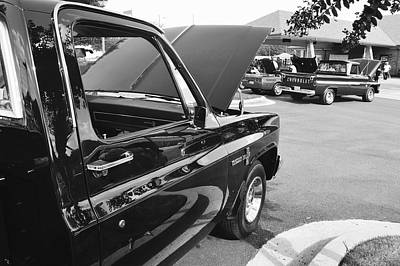 Black And White Photograph - B/w Chevy Truck Custom Deluxe by Sontia Hall