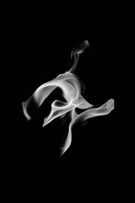 Photograph - B/w Flame 0456 by Wes Jimerson