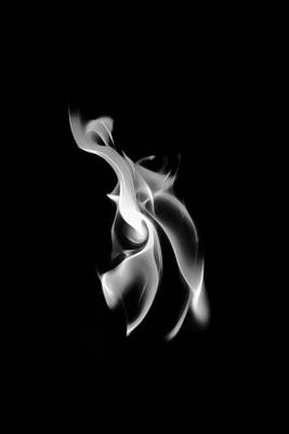 Photograph - B/w Flame 0458 by Wes Jimerson