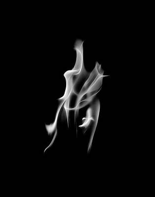 Photograph - B/w Flame 2478 by Wes Jimerson