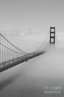 Photograph - B - W Golden Gate by David Bearden
