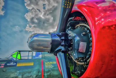 Photograph -  B17 Bomber And Cocktput by Gary Slawsky
