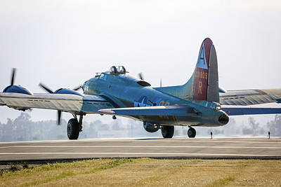 Photograph - B17 Flying Fortress Cleared For Takeoff At Livermore by John King