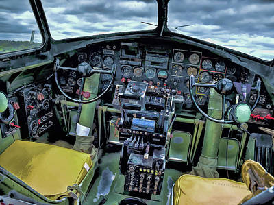 B17 Nine-o-nine Cockpit V1 Art Print