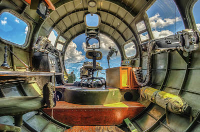 Photograph - B17 Nose Section Interior by Gary Slawsky
