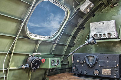 Photograph - B17 Radio Room by Gary Slawsky