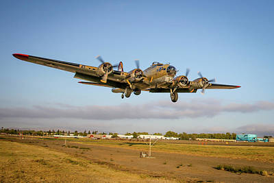 Photograph - B17 Short Final At Livermore by John King