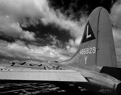 B17 Tail Art Print by Frederic A Reinecke