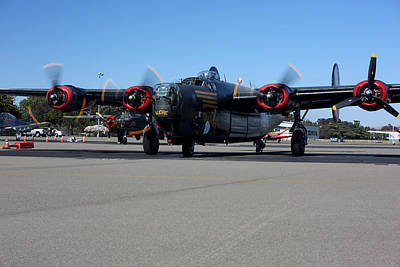 Photograph - B24 Liberator Start-up At Livermore Klvk Memorial Day by John King