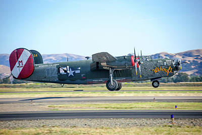 Photograph - B24 Liberator Takeoff At Livermore by John King