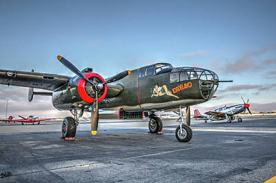 Photograph - B25 Mitchell At Livermore by John King