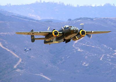 Photograph - B25 Mitchell Flyby At Salinas by John King