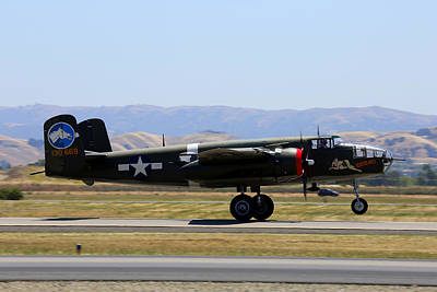 Photograph - B25 Mitchell Rotating At Klvk Livermore by John King