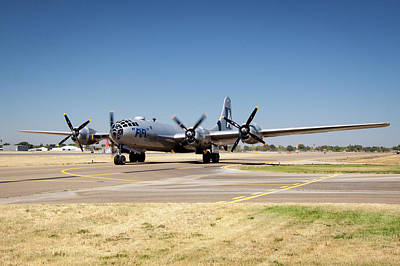 Photograph - B29 Fifi Taxis At Modesto Kmod by John King