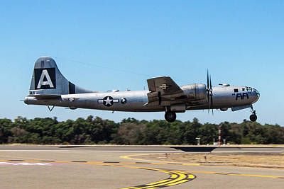 Photograph - B29 Superfortress Takeoff At Modesto by John King
