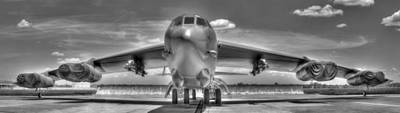 Photograph - B52 Black And White by Philip Rispin
