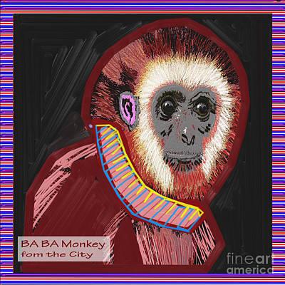 Baba Painting - Ba Ba Monkey From The City By Navinjoshi At Fineartamerica  by Navin Joshi