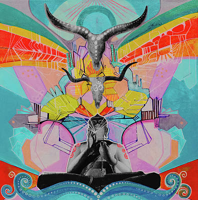 Mixed Media - Baabuddha   by Daniel De Blasio