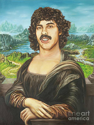 Baba Portrait Painting - Baba Booey Or Da Vincis 20th Century Muse by Tim Petrinec