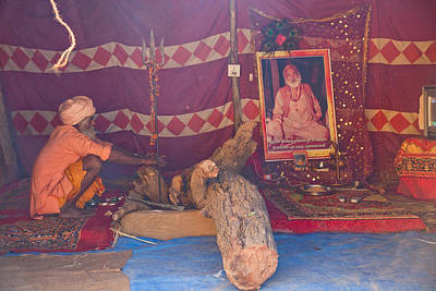 India Babas Photograph - Baba Camp  by John Battaglino