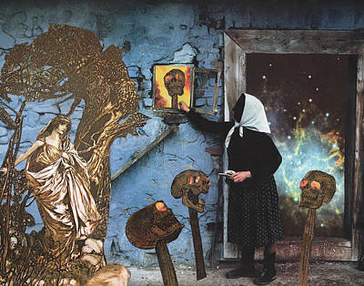 Slavic Mixed Media - Baba Yaga Gives Vasilisa The Beautiful The Power To Blow The Heads Off Her Foes by Starcrow Astrology
