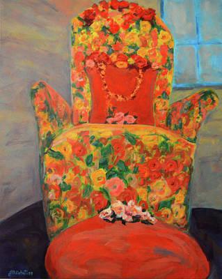 Baba Painting - Baba's Chair by Joe DiSabatino