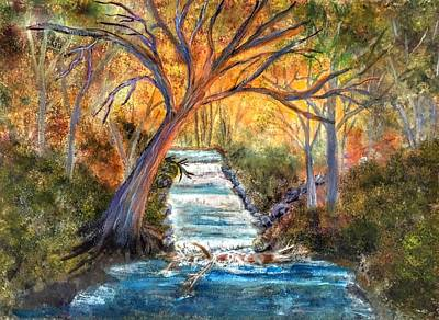 Painting - Babbling Brook by Anne Sands