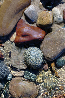Photograph - Babbling Brook Bird's Egg Stone by Kathi Mirto