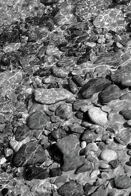 Photograph - Babbling Brook Black And White     by Kathi Mirto